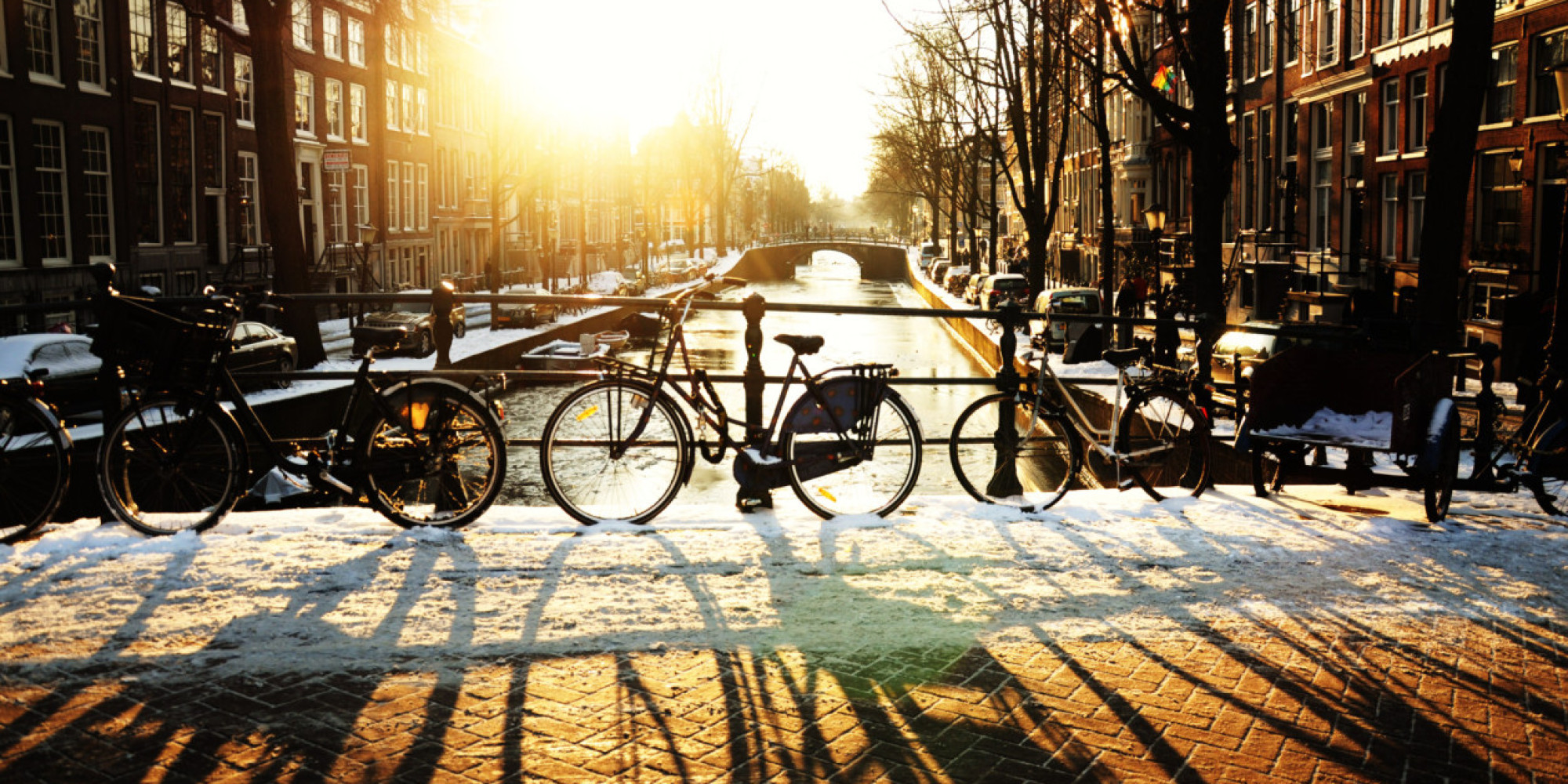 Bicycles at dusk